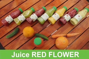 ZENdiet.ro Juice Red Flower