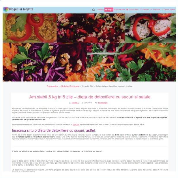 Articol despre Zendiet - blog.jorjette.ro