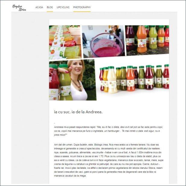 Articol despre ZenDiet - bogdanstoica.ro