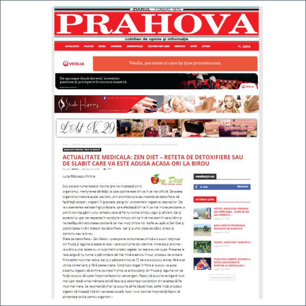 Articol despre ZenDiet - ziarulprahova.ro